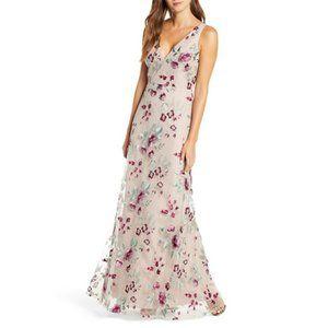 NWT Jenny Yoo Tatum Floral Tulle Evening Dress 10